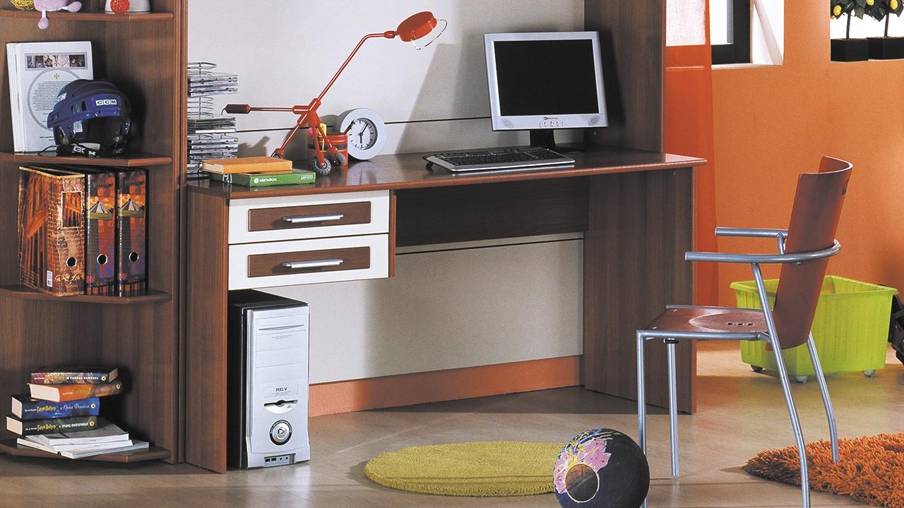 """Прямые детские письменные столы - мебельная компания """"мир ме."""